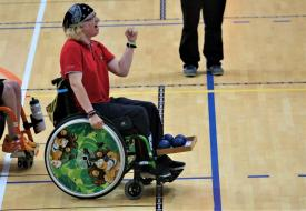 Cristina Gonçalves de bronze no World Open de Boccia